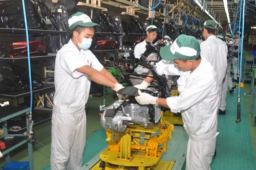 phong Dây chuyền lắp ráp xe máy tại Công ty Honda Việt Nam, Khu công nghiệp ĐÒng Văn II
